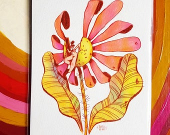 Born From Out Of A Flower A5 GICLEE archival Print