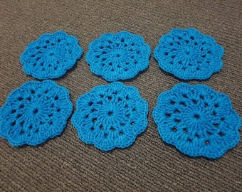 Decorative crochet coasters