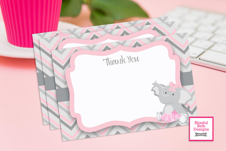PINK ELEPHANT TUTU, Elephant TuTu Baby Shower Invitation, Elephant ...