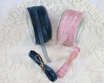 "3/8"" Sheer/Iridescent Pinstripe Ribbon"
