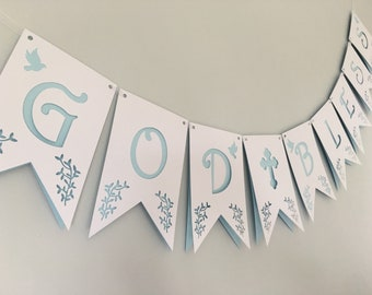 PERSONALISED first holy communion/christening/baby naming/new baby/confirmation white bunting room decor