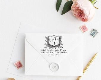 Custom Return Address Stamp, Self Ink Return Address Stamp, Personalized Address Stamp, Calligraphy Address Stamp Return Address Stamp No61