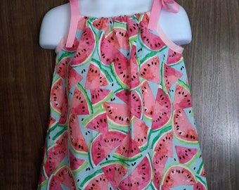 Wonderful Watermelon Girls Sundress (Size 12 mo - 3T)