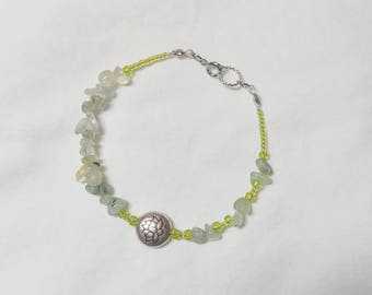 Peridot Lotus Bracelet