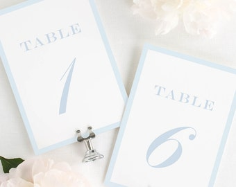 Upscale Monogram Table Numbers - 5x7""