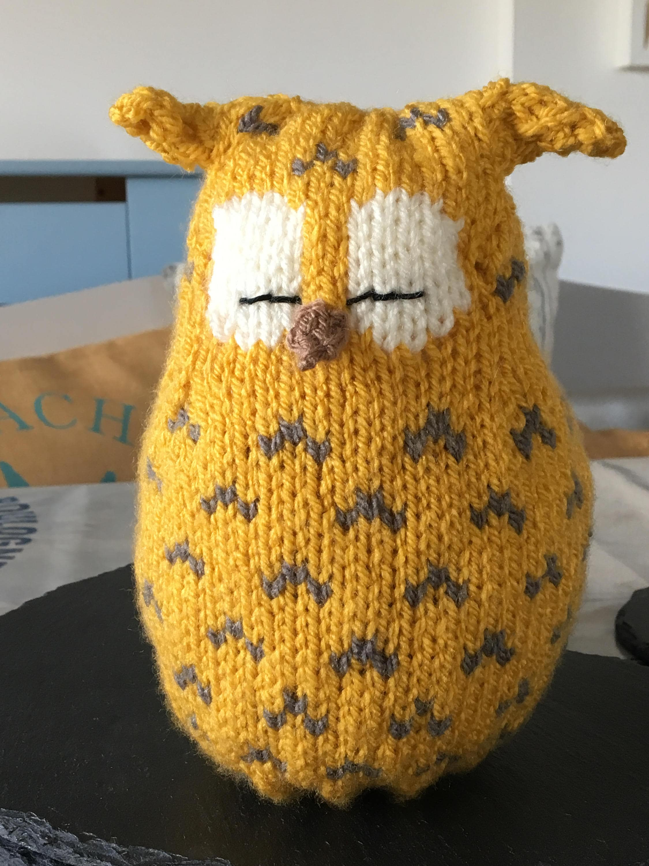 Owl Knitting Pattern / Knitting Pattern /pdf pattern / Knitted Owl ...