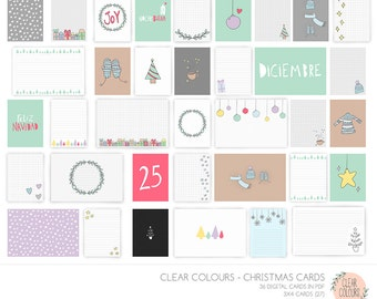 Christmas Cards - Tarjetas Navidad Clear Colours (40% Descuento)