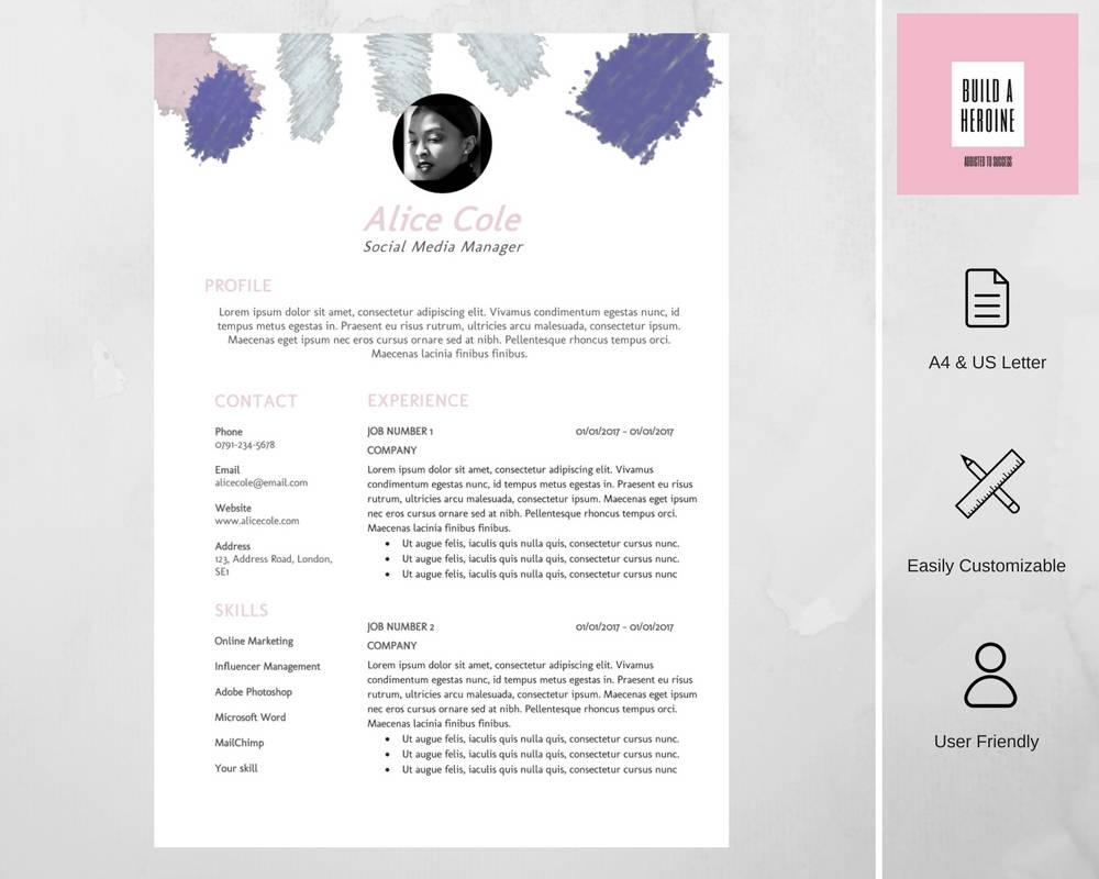 Moderne Lebenslauf Vorlage / CV Vorlage Cover Buchstabe