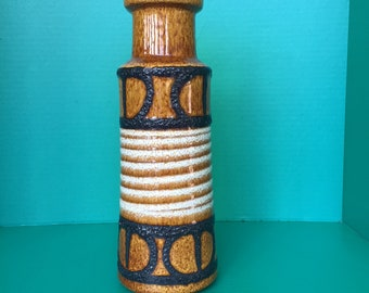 Lovely tall Scheurich ceramic vase from West Germany