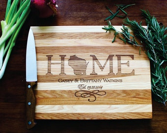 Personalized Cutting Board, Home Cutting Board, Engagement Gift,Wood Cutting Board, Personalized Wedding, Anniversary, Housewarming Gift