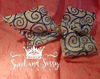 Swirl hair bow