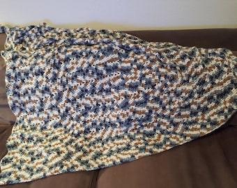 Crochet Multi Color Blanket