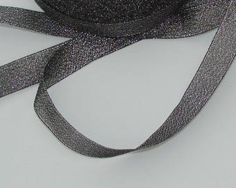 5 m satin 15mm silver grey organza Ribbon
