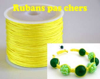 "2 meters of nylon thread or wire jade ""Yellow"" cheap 0.8 mm €0,20"