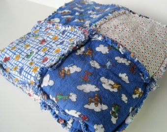 Soft Rag Quilt Cars and Planes
