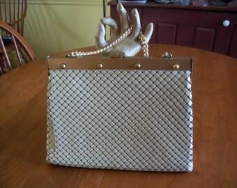 SALE - Whiting Davis Handbag, Alumesh Purse, never used, Vintage