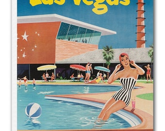 Vintage Las Vegas Art Travel Poster Print Canvas Hanging Wall Decor xr872