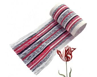 Black and White w/ Red Sash, SA14 - Ikat Fabric - Bohemian Belt - Guatemalan Textiles - Reenactment Clothing - LARP Belt