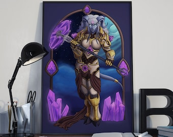 Will Is My Weapon - Print - Yrel World of Warcraft Draenei Alliance