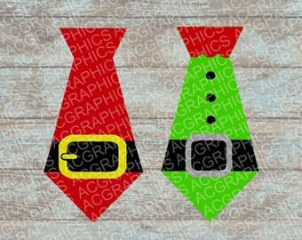 Christmas Ties SVG, DXF, JPEG, and Studio Downloads