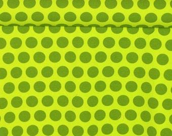 Green Pixie Dots Knit Fabric 1 yard
