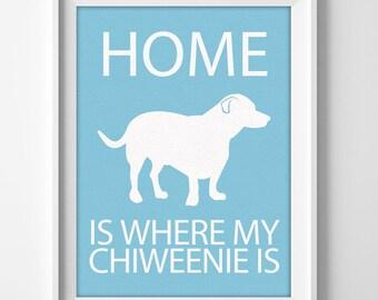 "Chihuahua Dachshund ""Chiweenie"" Custom Wall Art"
