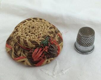 Pine Needle Hat Brooch, 1940s
