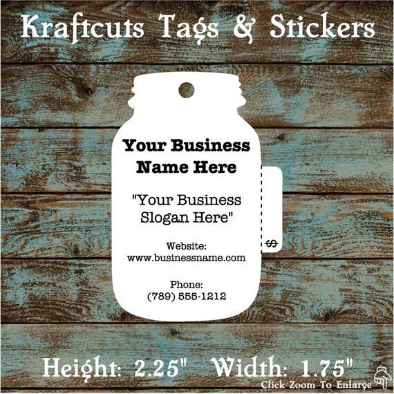 Price Tag Hang Tag Mason Jar Perforated Custom #639 - Quantity: 30 Tags