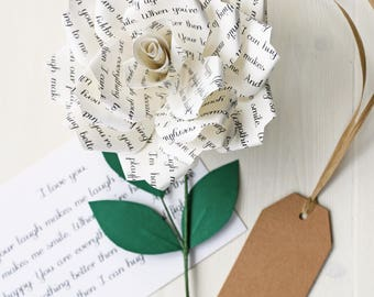 Personalised Paper Rose | Romantic & Anniversary Gift