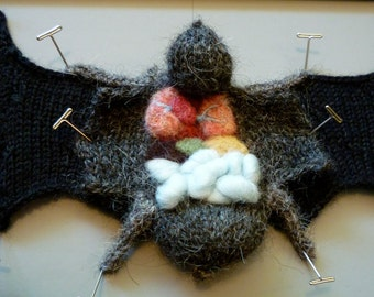 Knitted Dissected Bat Specimen