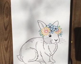 Kitchen towel - Bunny rabbit vintage