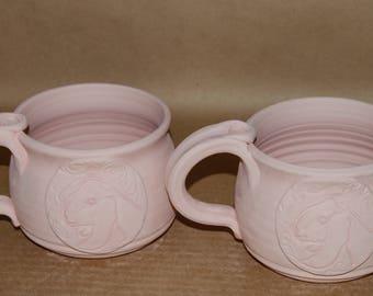 Glazed To Order 16 Oz Soup Mug with Nubian Medallion