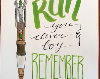 Print// Dr. Who: Run you clever boy