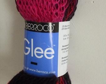ON SALE Berroco GLEE Burgundy,Black,Purple Multcolor Wool Blend Yarn 1 Hank/9533