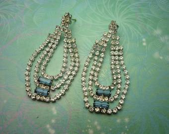 Vintage Sterling Silver Earrings - Elegant