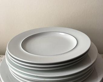 "Vintage Royal Copenhagen Blue Line 7"" Bread Plates 2"