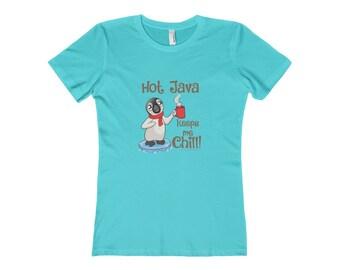 Hot Java Keeps Me Chill, Penguin Lover Tee Shirt