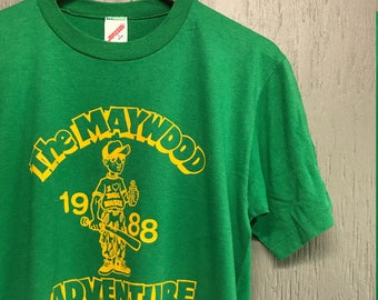 M vintage 80s Maywood New Jersey toxic waste chemical clean up t shirt