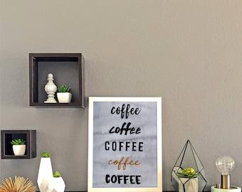 Coffee Word Print
