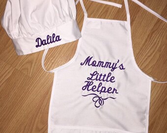 Child's chef hat and apron set