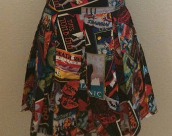 Haunted Places Postcard Printed Adult High Waisted Skater Skirts