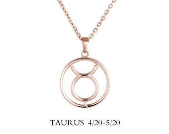 Taurus Necklace / Taurus Sign Necklace / Taurus Jewelry / Zodiac Necklace / Taurus Zodiac Necklace