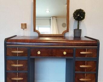 furniture refurbished. Refurbished Waterfall Desk/Vanity Furniture D