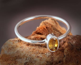 Handmade Jewelry, 925 Sterling Silver, Sapphire Rings, Yellow Sapphire Rings, Indian Jewelry, Gift For Her, Gift For Wife, Christmas Gift