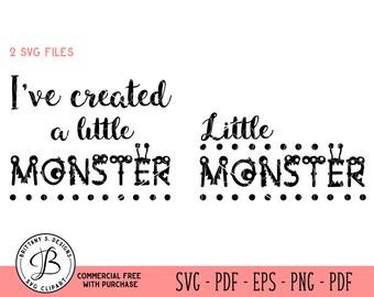 Monster SVG / Little Monster SVG / toddler svg / baby svg / kids svg / Cut files for Cricut / Cutting files / Svg files