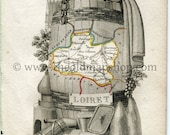 1823 Perrot Map of LOIRET...