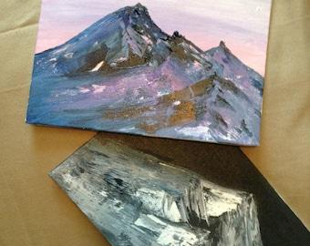5*7 mini mountain painting(s)