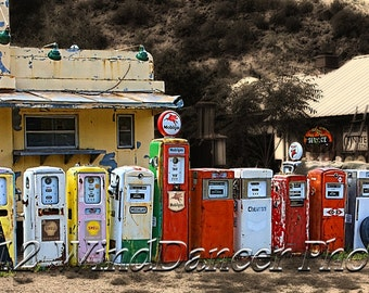 Classical Gas - Infused Aluminum Art Print - Rt 66 Art - Old Gas Pumps - Home or Office Decor - Gifts for Men - Americana