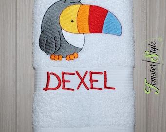 Personalized Bath Towel; JUNGLE ANIMALS; Embroidered towel; Bath Gift; Personalized Gift; Bath Towel;Personalized Towel;Beach Towel;Birthday