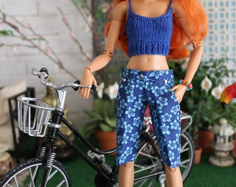Crop Top and Board Short for 11-12 inch Fashion Doll